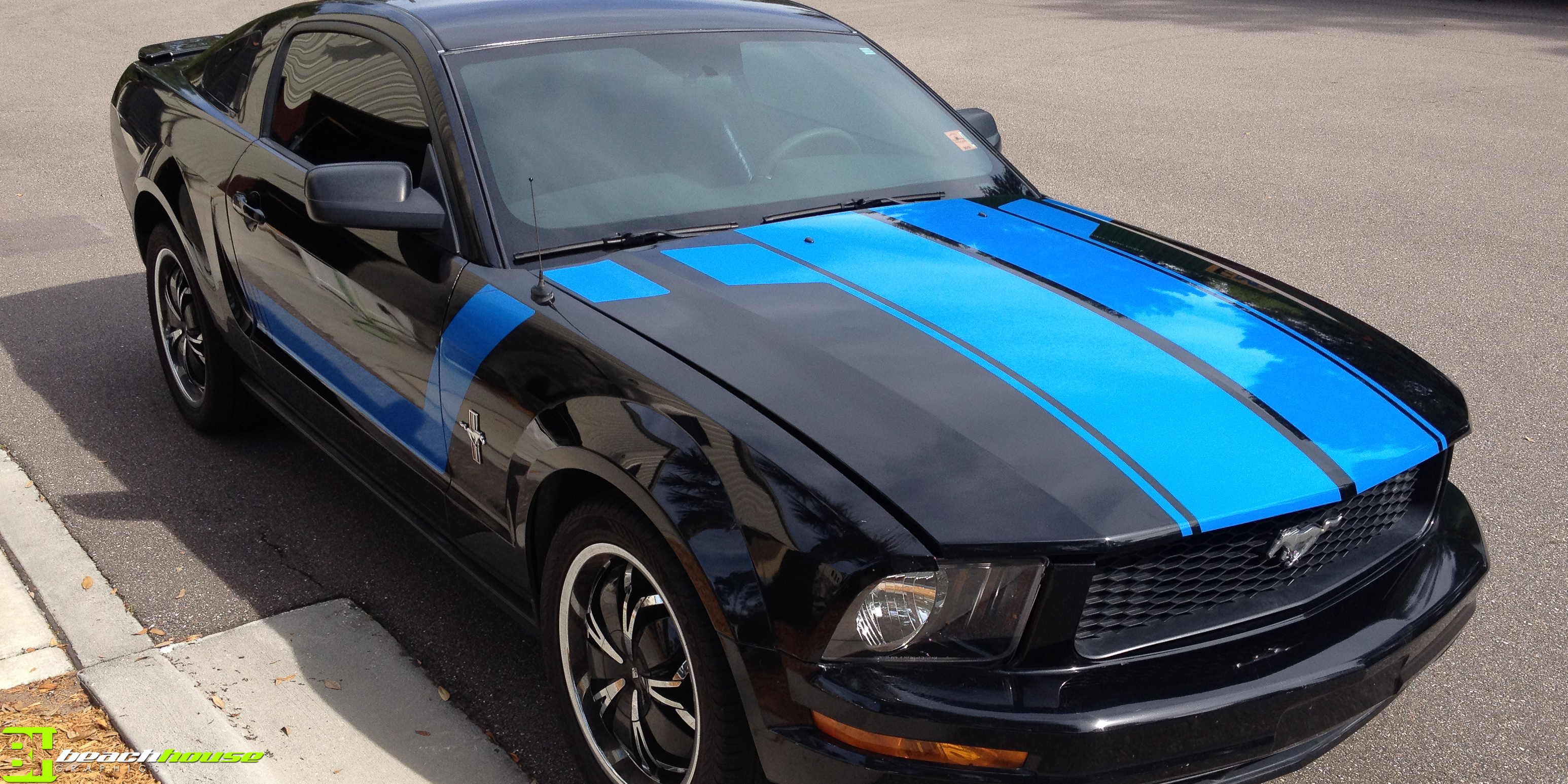 Daytona Beach Vinyl Accent On Ford Mustang Custom