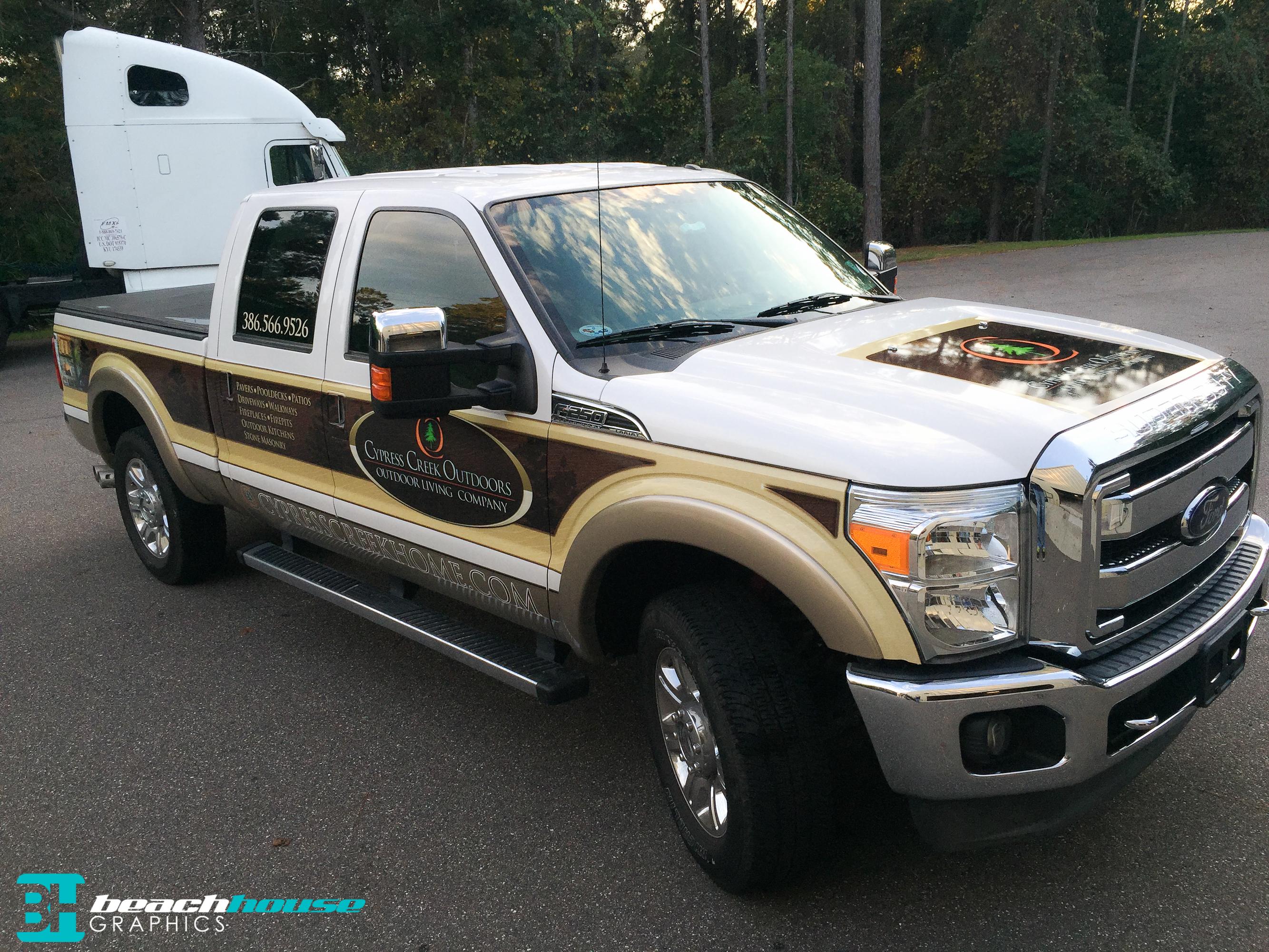 Cypress Creek Ford F250 Partial Wrap Custom Vehicle Wraps