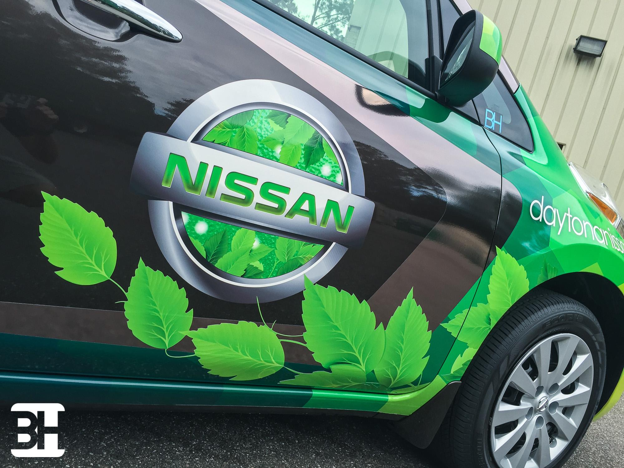 Central Florida Vehicle Graphics Designs Wraps Leaf Nissan Custom Vehicle Wraps